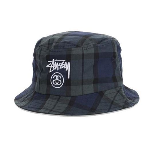 83e3ce702f6 Picture of Stock Lock Plaid Bucket Hat Black
